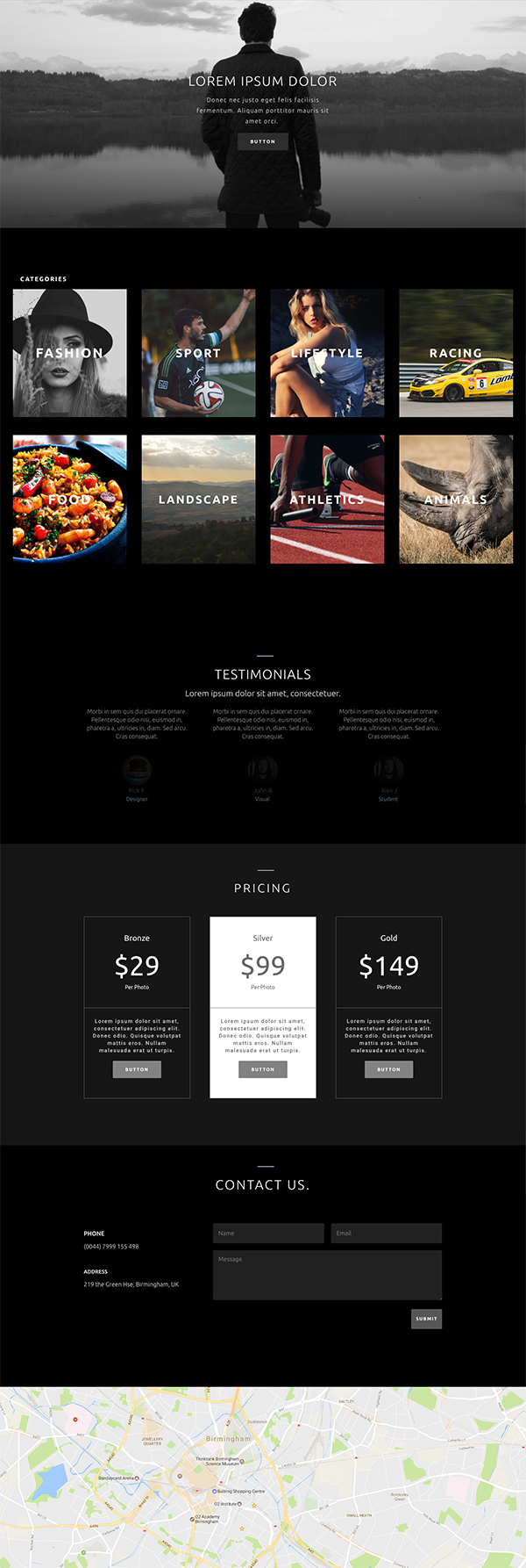 photography-homepage-layout-divi-telecharger